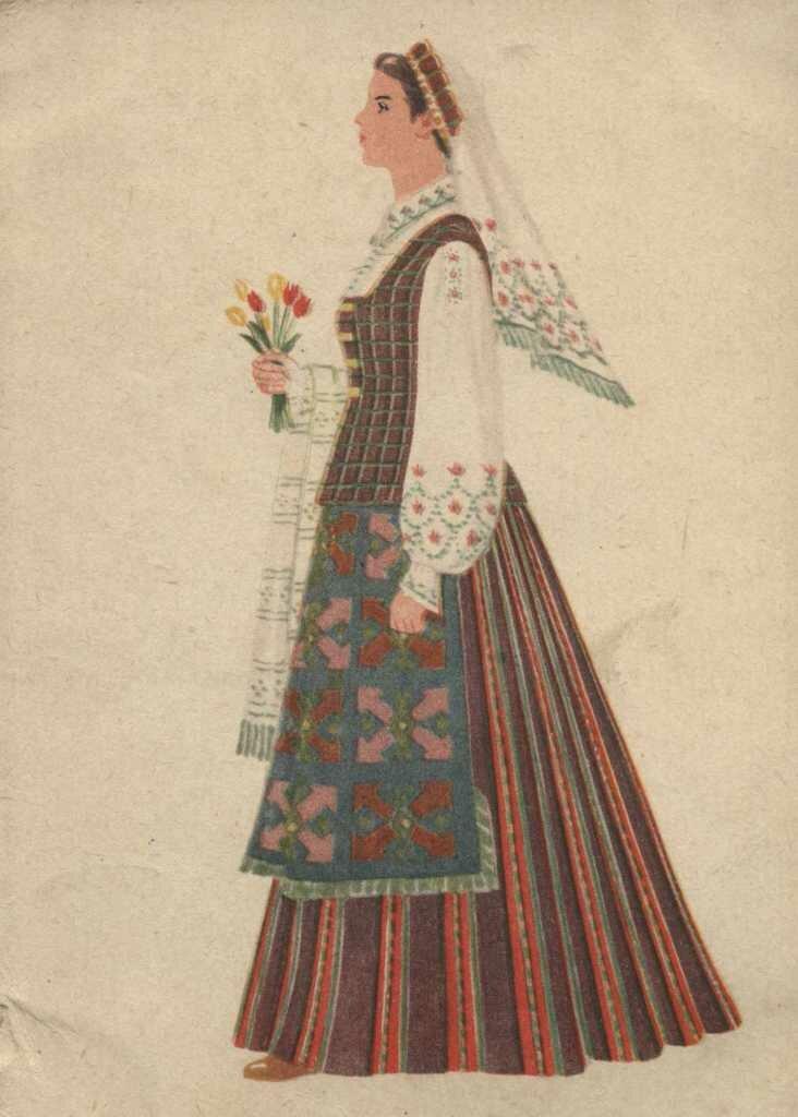 женские литовские народные костюмы