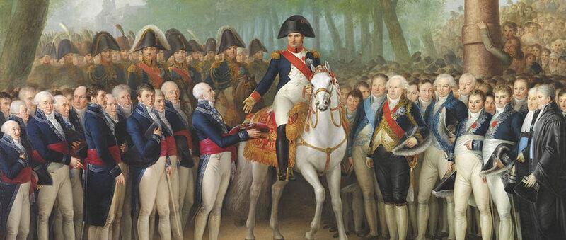 Прием императора Наполеона в Амстердаме 9 октября 1811 года. Mattheus Игнатия ван Бри