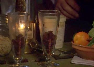 Видео рецепты. Новогодний  десерт с мороженым