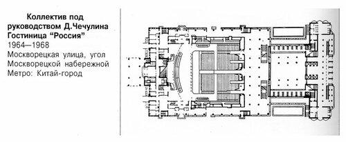 Гостиница Россия в Москве, план