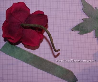 Роза из ткани, мастер-класс