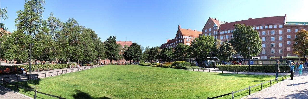 Sammonpuistikko garden, Helsinki. panorama