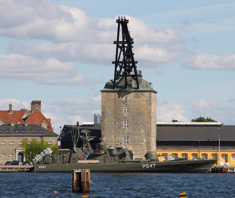 Copenhagen. Копенгаген. Ракетный катер Sehested