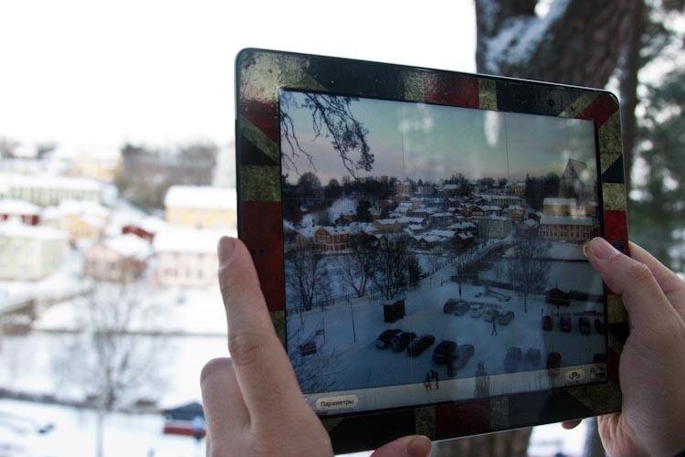 Вид со смотровой площадки на Порвоо.