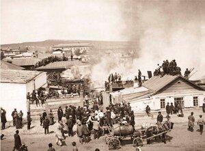 Пожар жилого дома в г. Красноярске. 1908 г.