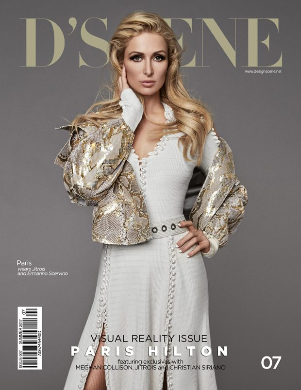 PARIS HILTON COVERS D'SCENE SUMMER 2017 ISSUE (2 pics)