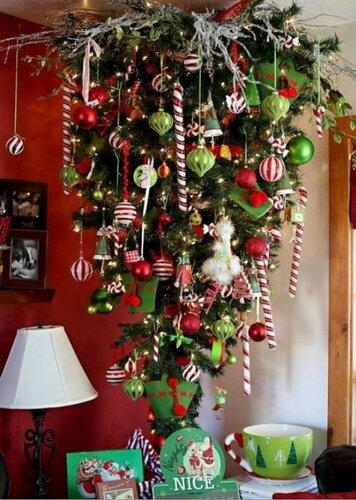 Новогодние елки на потолке