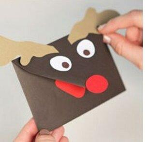 Как сделать конверт из бумаги к Рождеству и Новому году - ProFoto