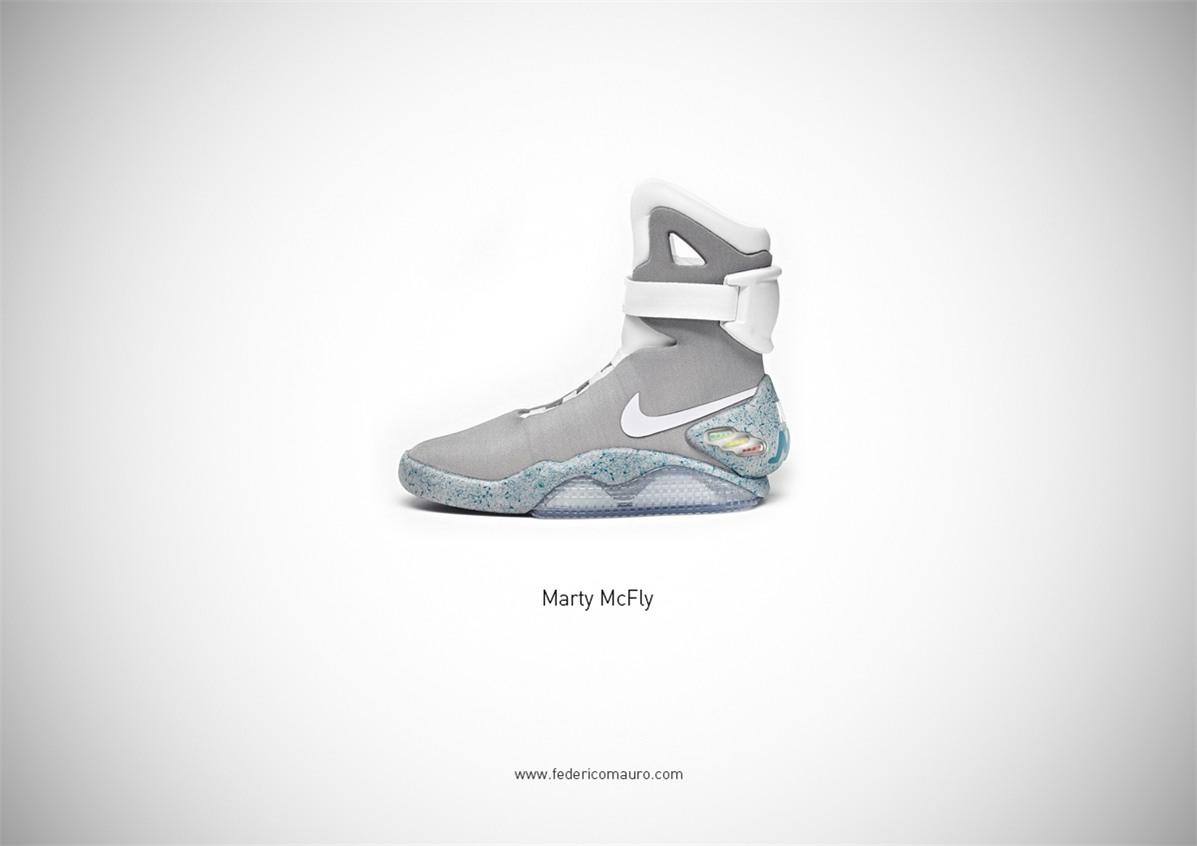 Знаменитая обувь культовых персонажей / Famous Shoes by Federico Mauro - Marty McFly