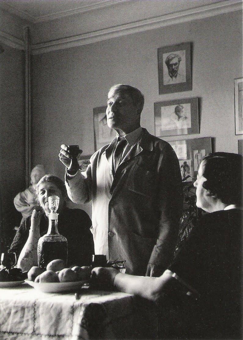 Писательское застолье в Переделкино, 1958