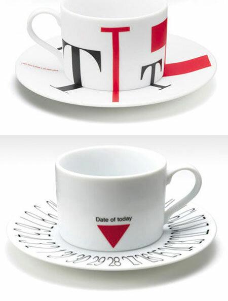 Кофейная кружка-календарь от дизайнера Takeshi Nishioka