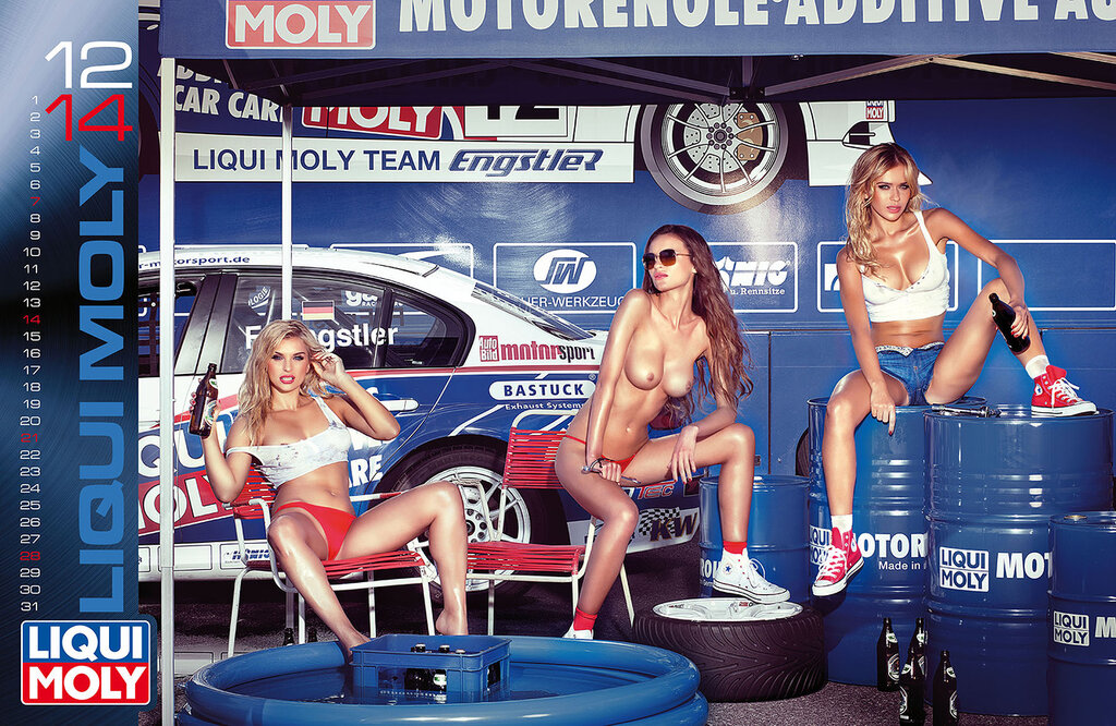 Эротический календарь Liqui Moly 2014