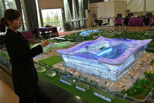 Самое крупное строение мира в Китае вместительностью около трех пентагонов
