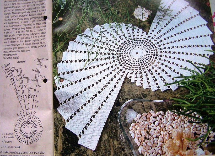 Вязание крючком необычные салфетки