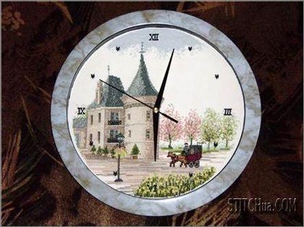 Часы с вышивкой