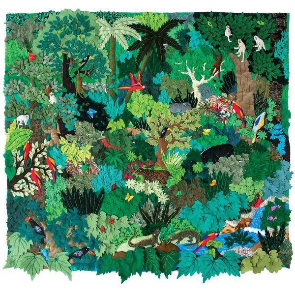 Картины из кусочков ткани