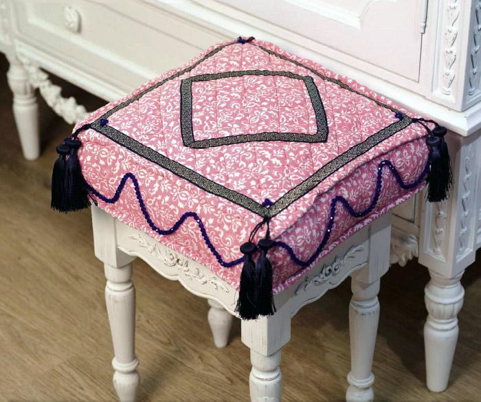Подушка для стула своими руками.  Cushion for chair DIY
