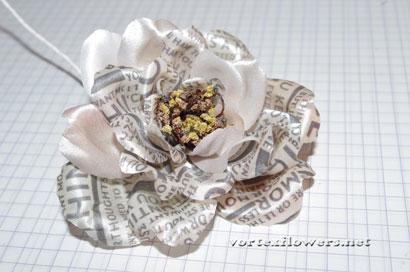 Роза из ткани своими руками, мастер-класс.