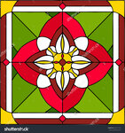 stock-vector-arabic-flowers-symmetric-composition-vector-illustrations-in-stained-glass-window-265771118.jpg