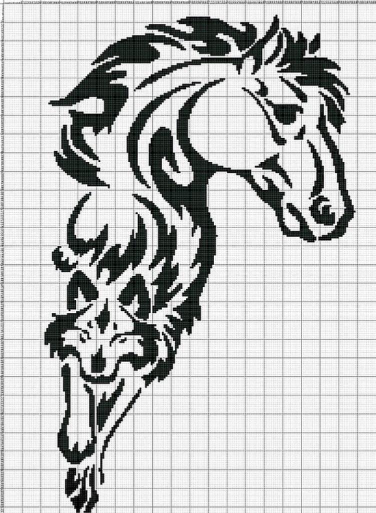 схемы вышивки крестом черно белые маленькие