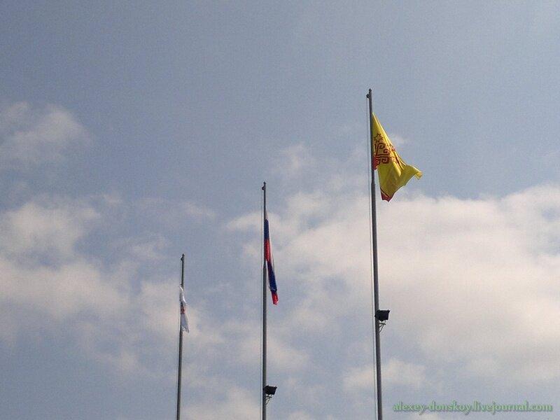 Подняты флаги России, Чувашии и олимпийский