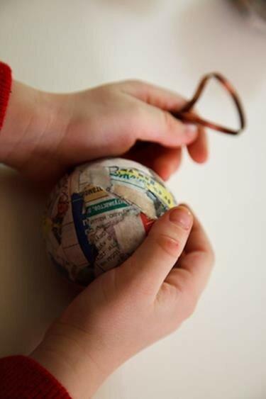 Как сделать основу для новогоднего шарика