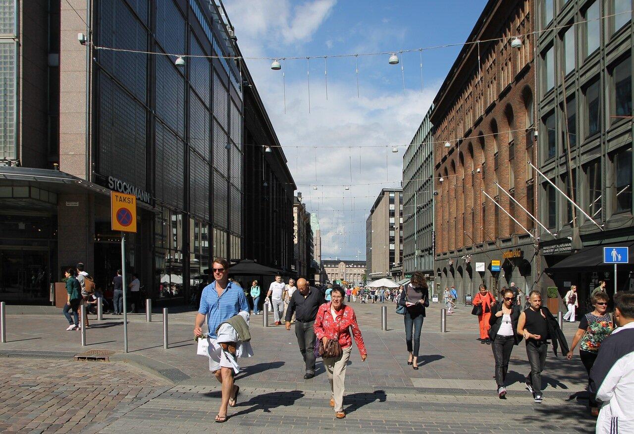 Helsinki, Kluuvi. Shopping streets