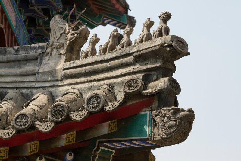 Деталь крыши, храм Белого облака, Пекин