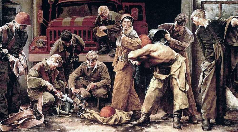 Военные пожарные. Дезактивация (Сергей Присекин, 1986 год)