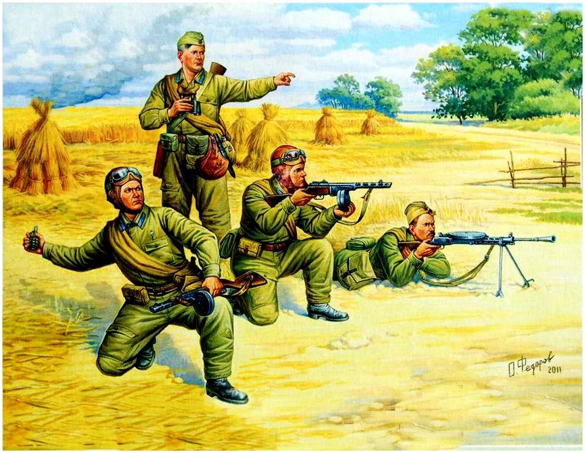 Советские парашютисты 1941 - 1942 годы