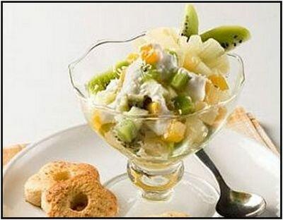 Фруктовый салат «Снежинка»