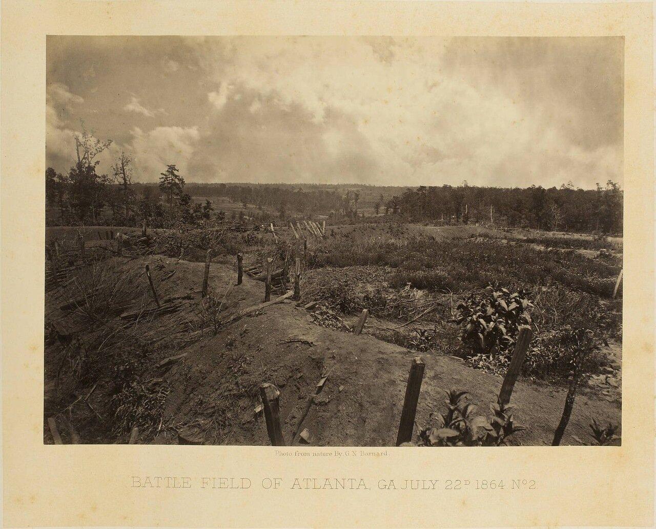 Поле битвы при Атланте, Джорджия 22 июня 1864 года. №2