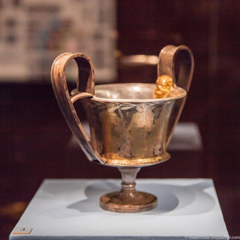 Канфар. Серебро, позолота. 420-400 гг. до н.э.
