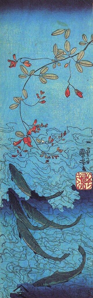 Sharks, Utagawa Kuniyoshi