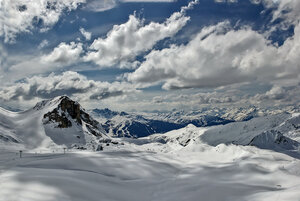 Летят облака над вершинами гор