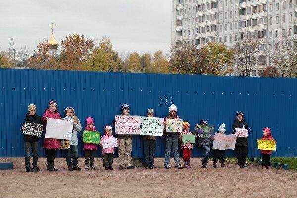 Дети против постройки храма