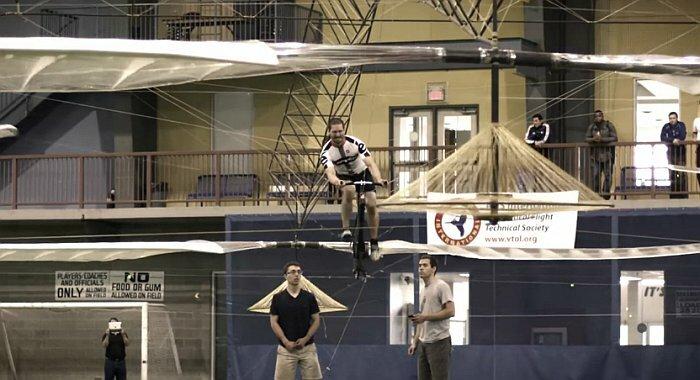 Вертолёт на мышцах (видео)