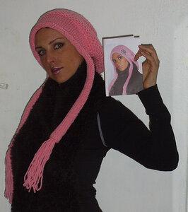 "Шапочка ""розовый Париж"""