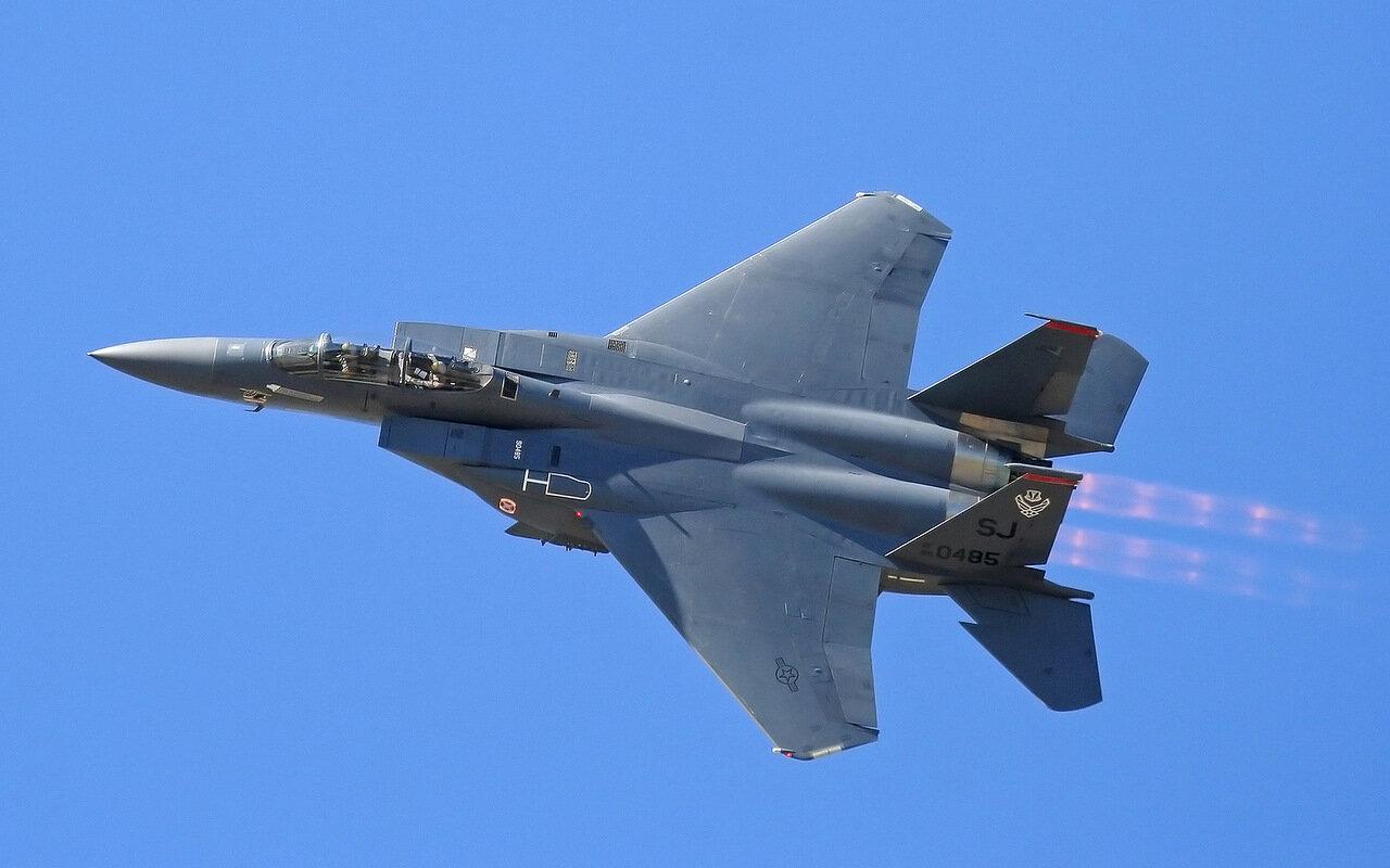 F-15 Eagle на форсаже на форсаже