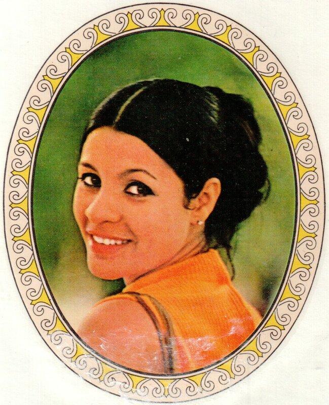 Переводная картинка из ГДР девушка Maria Farah 1973