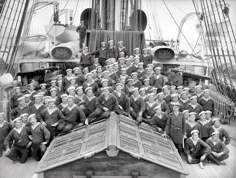 1893. Columbian Naval Review. Ship's company, Russian Navy