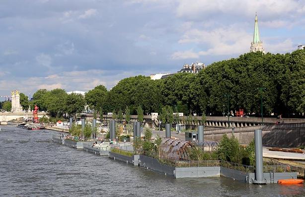 Berges de Seine / Берега Сены - осуществлённый проект благоустройства набережных Парижа