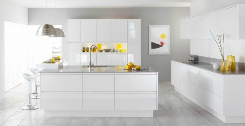 Белый цвет в интерьере кухни, фото 10