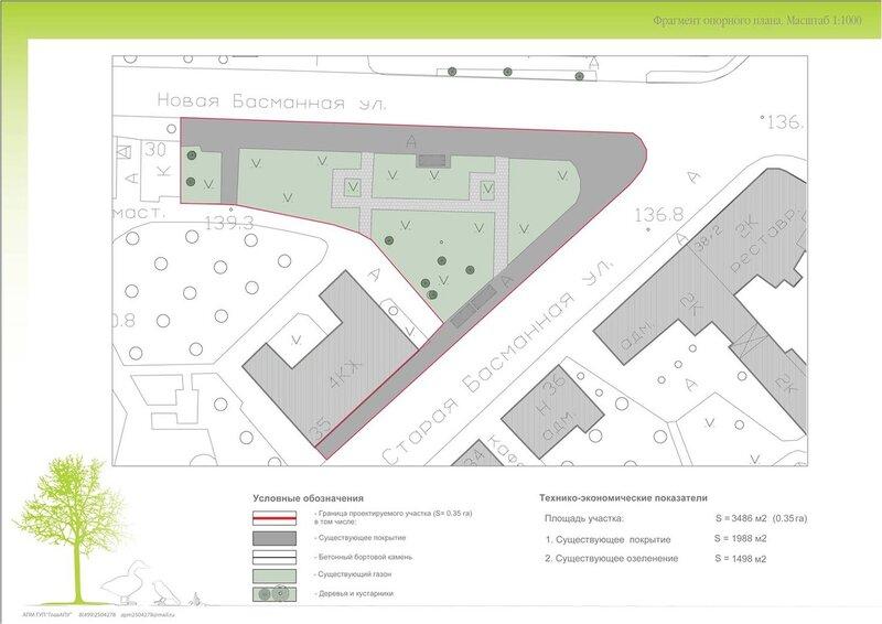 Проект реконструкции сквера на площади Разгуляй. Рисунок 8