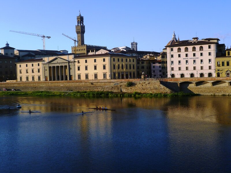 Италия, Флоренция. Река Арно (Italy, Florence. The river Arno)
