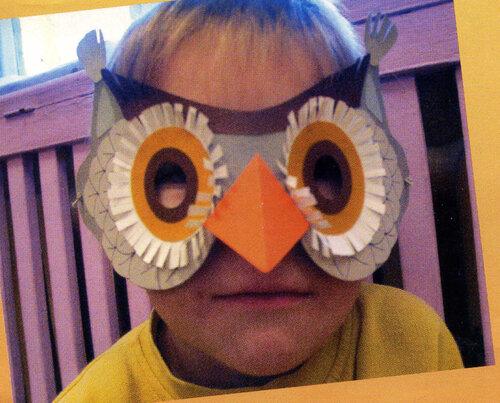 Новогодняя маскарадная маска Сова
