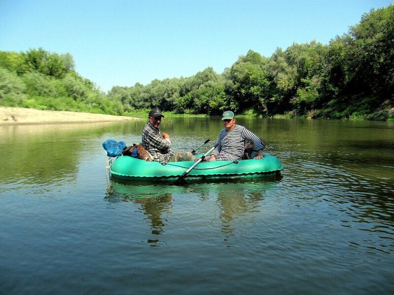 По реке, летний сплав