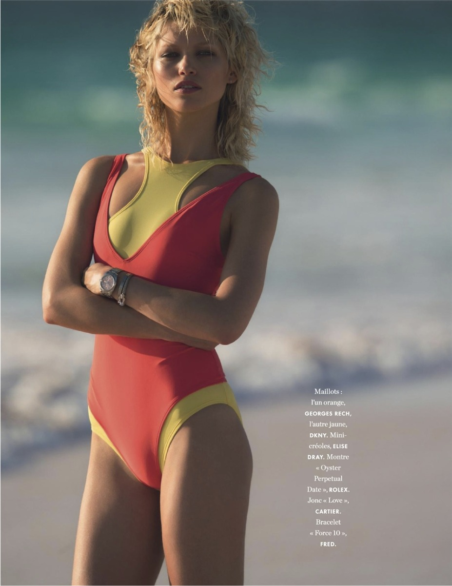 Хана Иржицкова / Hana Jirickova by Hans Feurer in Elle France 30th may 2014