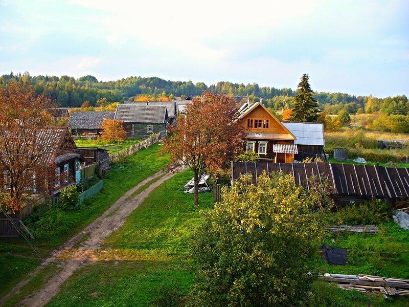 Деревня - север.