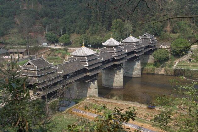 Мост Дождя и Ветра. Ченьян, Китай
